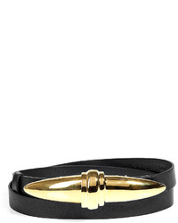 Donna Karan New York Black Gold Buckle Adjustable Belt