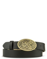 Mossimo Supply Co Black Belt With Gold Flower Clasp