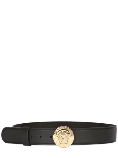 bf4da060733bc Versace 40mm Medusa Buckle Leather Belt, $450 | LUISAVIAROMA ...