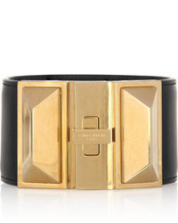 1eaa9441a9d Women's Black and Gold Leather Bracelets by Saint Laurent   Women's ...