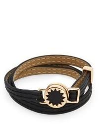 House Of Harlow Core Starburst Leather Wrap Bracelet
