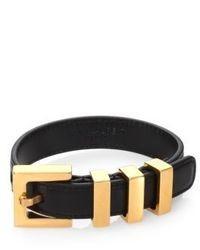 7b07f4ec44a Saint Laurent Pyramid Stud Clasp Leather Bracelet Black Out of stock · Saint  Laurent Leather Buckle Bracelet