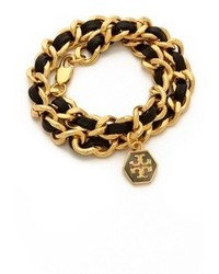 Tory Burch Leather Chain Wrap Bracelet