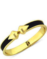 BCBGeneration Metallic Faux Leather Hinge Bangle Bracelet