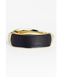 Alexis Bittar Miss Havisham Kinetic Gold Hinge Leather Bracelet