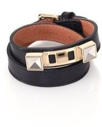 Proenza Schouler Ps11 Linosa Leather Double Wrap Bracelet