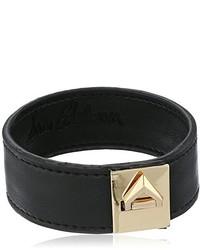 Sam Edelman Narrow V Lock Leather Bracelet