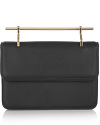 La fleur du mal leather clutch black medium 351370