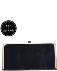 Fashion to Figure Silvie Snake Embossed Box Clutch