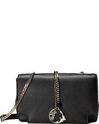 Versace Black Studded Leather Medusa Bag Out Of Stock Collection Pebbled Crossbody With Gold Chain Cross Body Handbags