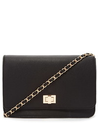 Forever 21 Faux Leather Chain Strap Crossbody