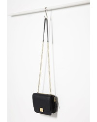 Forever 21 Faux Leather Chain Strapped Crossbody