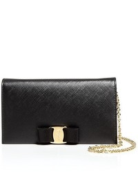 Miss vara bow soft leather chain wallet medium 350892