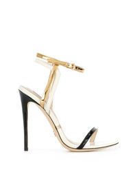 Gianni Renzi Metallic Open Toe Sandals