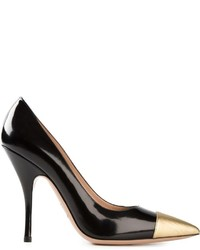 Black and Gold Leather Pumps