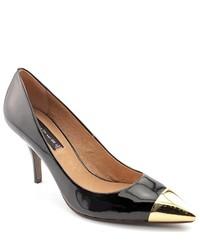 Steve Madden Fearless Black Leather Pumps Heels Shoes
