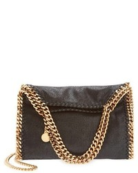 Mini falabella shaggy deer faux leather tote black medium 127976