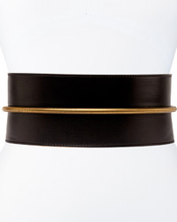 Lanvin Tube Detail Belt In Black Lambskin