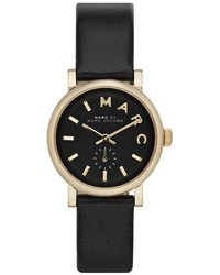 Marc by Marc Jacobs Baker Round Leather Strap Watch 28mm