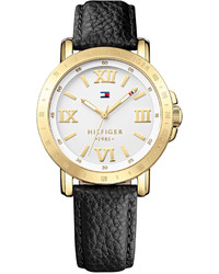 Tommy Hilfiger Black Leather Strap Watch 38mm 1781441