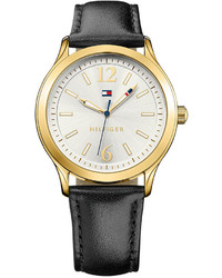 Tommy Hilfiger Black Leather Strap Watch 38mm 1781554