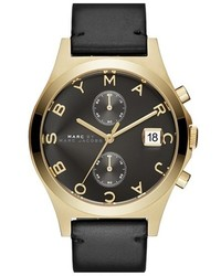Marc Jacobs Chronograph Leather Strap Watch 38mm
