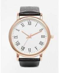 Asos Collection Premium Leather Watch