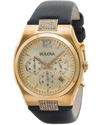 Bulova Crystal Chronograph Watch