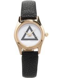 Forever 21 Faux Leather Geo Faced Watch