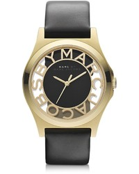 Marc by Marc Jacobs Henry Skeleton 40mm Stainless Steel Watch Wleather Strap