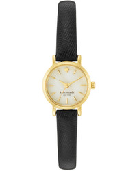 Kate Spade New York Tiny Metro Black Leather Strap Watch 20mm 1yru0536