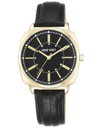 Nine West Haizlye Leather Strap Watch