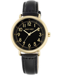 Nine West Izzadora Leather Strap Watch