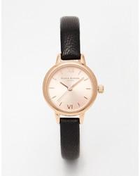 Burton Olivia Mini Dial Black Gold Watch