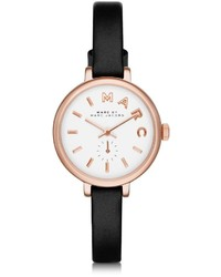Marc by Marc Jacobs Sally 28 Mm Stainless Steel And Leather Strap Watch