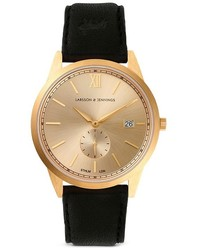 Larsson & Jennings Saxon Gold Organic Leather Strap Watch