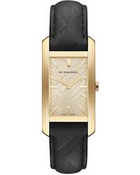 Burberry Swiss Black Leather Strap Watch 25mm Bu9409