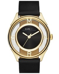Marc Jacobs Tether Skeleton Leather Strap Watch 36mm
