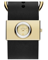 Marc Jacobs Viv Leather Strap Watch 33mm X 19mm