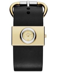 Marc by Marc Jacobs Viv Two Tone Stainless Steel Leather Strap Watch