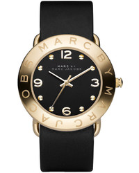 Marc by Marc Jacobs Watch Black Leather Strap Mbm1154