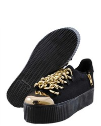 Jeffrey Campbell Caddy Black Fashion Sneakers