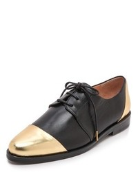 Black and gold oxford shoes original 9801584