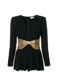 Black and Gold Playsuit