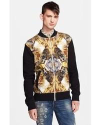 Black and Gold Print Bomber Jackets for Men   Men&39s Fashion