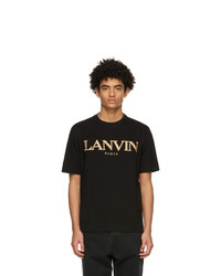 Lanvin Black Embroidered Regular T Shirt