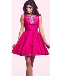 62f76128246 ... Mac Duggal Glamorous Bateau Homecoming Dress ...