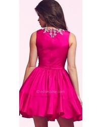 8539dfb9081 ... Mac Duggal Glamorous Bateau Homecoming Dress