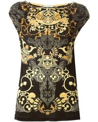 Versace Collection Baroque Print Top