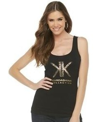 Kardashian Kollection Logo Tank Top Sequins